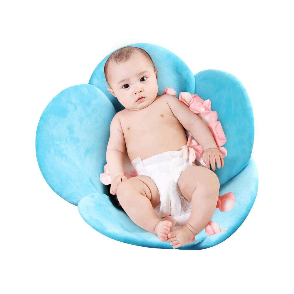 Blume Baby Badematte Badewanne Sitze Tragbare Faltpolster Infant Bad Kissen DE