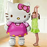 Galda. Hello Kitty Globo gigante XXL para cumpleaños y fiestas preparado para helio o aire. 110x65 cm.