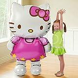 Galda. Hello Kitty Ballon Riesen XXL für Geburtstag und Feste bereit für Helium oder Luft. 110x 65cm