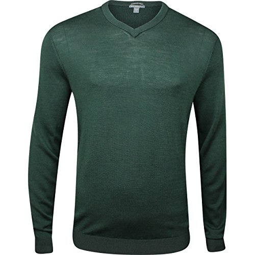 Ashworth Men's Plaited Merino V-Neck Sweater (Large, ()