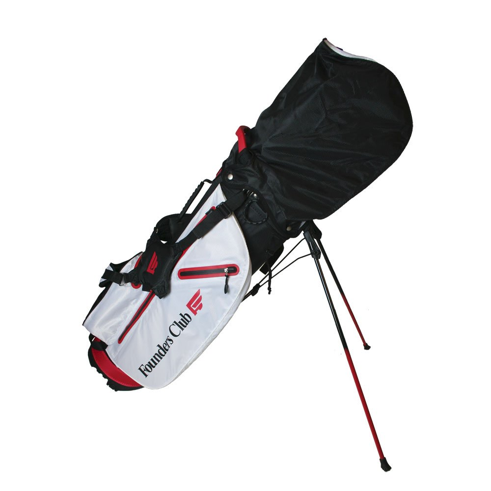 Founders Club Waterproof Golf Stand Carry Bag with 14 Way Top -Light Weight - Red White Black by Founders Club (Image #3)