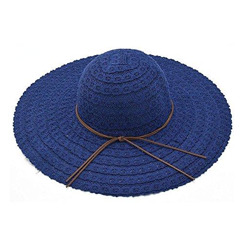 Lovely Dixinla visera Dama sombrero playa sombrero sombrero protector solar plegable  playa gorra a23593c5fb6