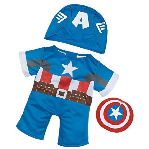 Build A Bear Workshop Captain America Costume 3 pc.