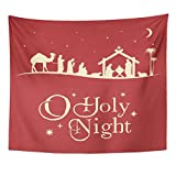 VaryHome Tapestry Holy Christmas Nativity Scene Silhouette Family Home Decor Wall Hanging for Living Room Bedroom Dorm 50x60 Inches