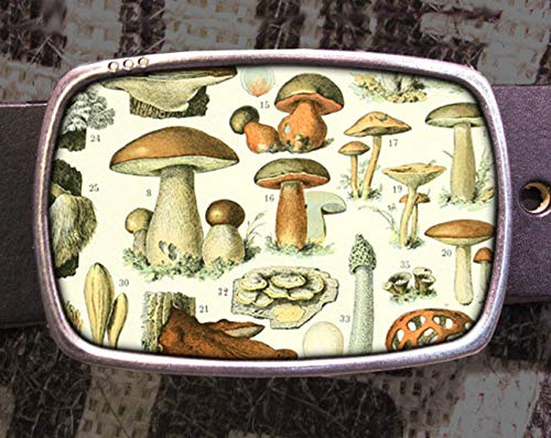 Mushroom Family Fungi Belt Buckle