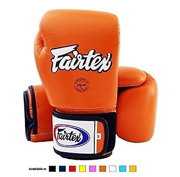 Fairtex Muay Thai MMA K1 Boxing Gloves BGV1 White Black Red 10 12 14 16 training