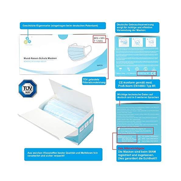 CALIYO-50x-Mund-Nasenschutz-Masken-Medizinisch-EU-Norm-EN14683-Typ-IIR-OP-Masken-Mundschutz-Masken-einweg