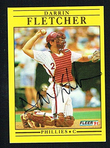 Darrin Fletcher #U-107 signed autograph auto 1991 Fleer Baseball Trading ()