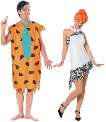 Fancy Me Parejas Hombre y Mujer Disfraz Fred & Wilma Picapiedra ...