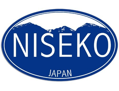 Oval NISEKO Japan Sticker (decal snow ski snowboarding)