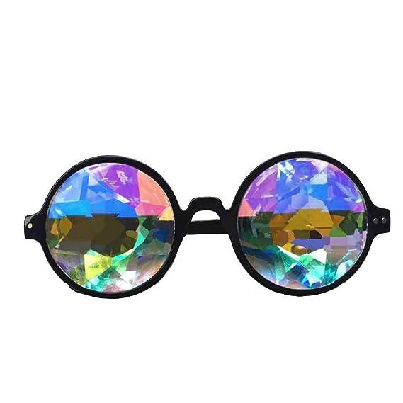 Meisijia Mosaïque colorée Cystal Lunettes prisme diffractée pour objectif Rave Dance Party Festival de LDDI2s2oN