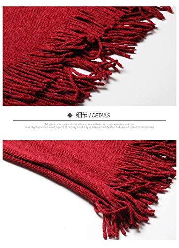 Tassel Poncho Sólidos Cardigan Abrigos Otoño Con Mangas Fiesta Medias Vintage Mujer Asimetricos Rojo Elegantes De Cómodo Colores Punto Primavera Fashion Chaqueta fHSq6