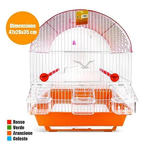 Jaula arco de metal con accesorios para pájaros, canarios ...
