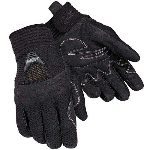 Tour Master Airflow Men's Textile Sports Bike Motorcycle Gloves - Black / 3X-Large