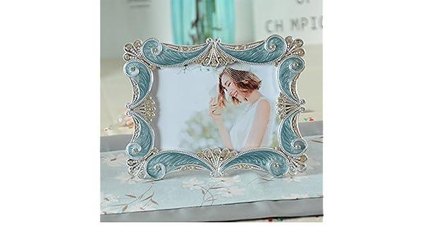 weiwei Portaretrato resina retro, Estudio de fotografía de boda rectangular Foto marco de decoración del hogar(6 pulgadas 7 pulgadas 8 pulgadas)-C ...