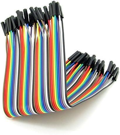 40pcs 20 cm mâle à mâle M à M Dupont fil Jumper câble pour Arduino Breadboard