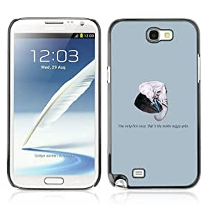YOYOSHOP [Funny Gangsta Elephant Message] Samsung Galaxy Note 2 Case