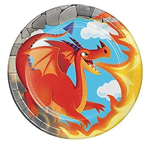 Dragon Dessert Plates, 24 Count