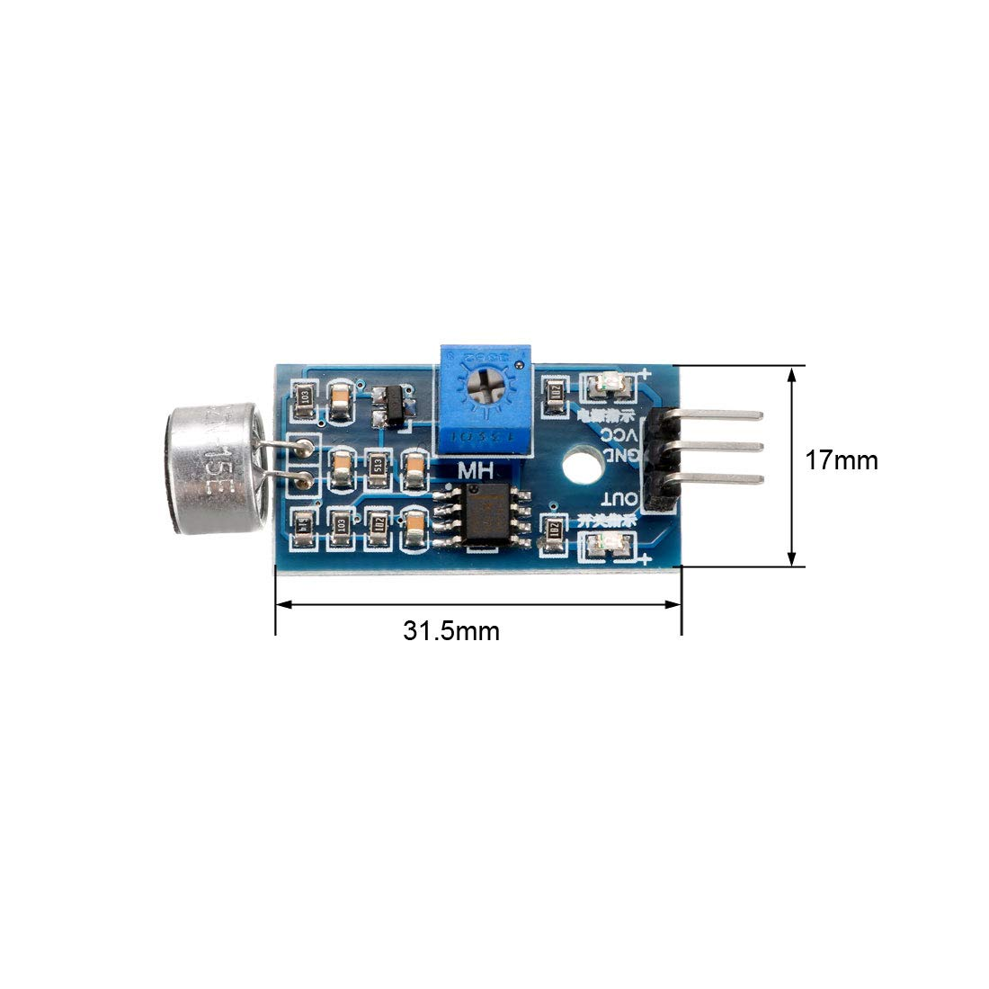 uxcell Sound Microphone Sensor XD-74 Detection Module for Arduino AVR PIC