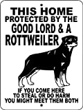 """ROTTWEILER ALUMINUM GUARD DOG SIGN 9""""x12"""" ALUMINUM """"ANIMALZRULE ORIGINAL DESIGN - """"NO ONE ELSE IS AUTH0RIZED TO SELL THIS SIGN"""" (Any one else selling this sign is selling a CHEAP COPY)"""