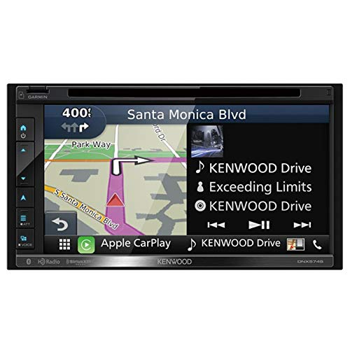 Kenwood DNX574S 2-Din AV Navigation System with Bluetooth & HD Radio (Car Stereo Camera Kenwood)