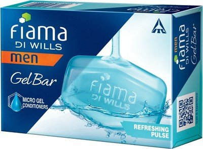 Fiama Di Wills Men Refreshing Pulse Gel Bar - Pack of 3(375 G) by Fiama Di Wills