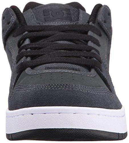 DC Mens Manteca Skate Shoe, Black/Black/Gum, 5 M US Grey/Grey/Black