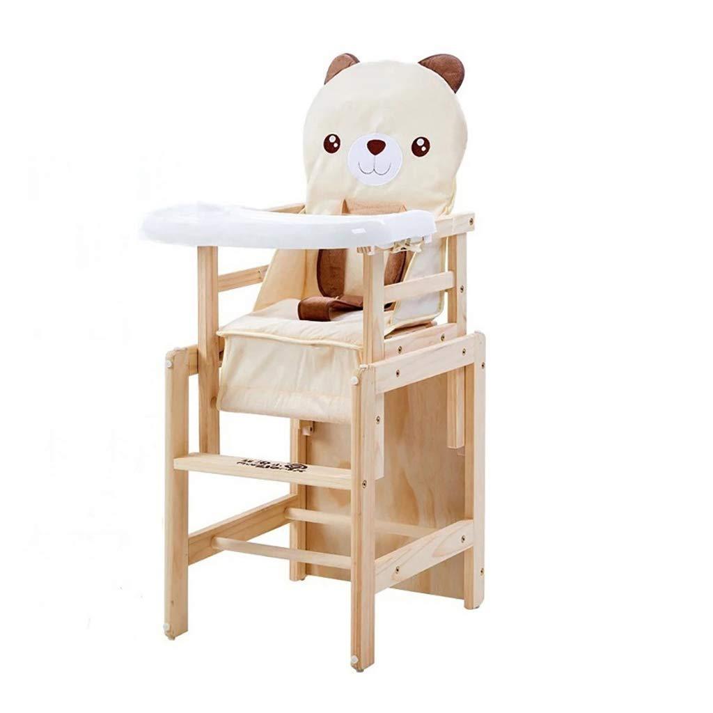木製ハイチェア取り外し可能な組み合わせ多機能子供のダイニングチェアシンプルなスツールの幼児食卓の椅子の家族のダイニングテーブル  F B07MK6D2Q2