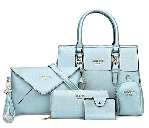 light blue leather handbags - 2
