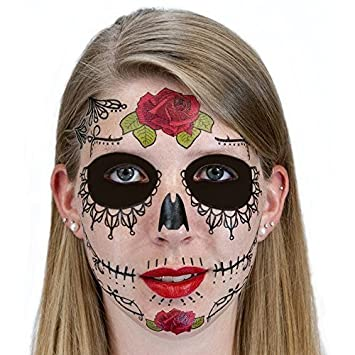 Black Eye Day Of The Dead Halloween Skull Face Scary Mask