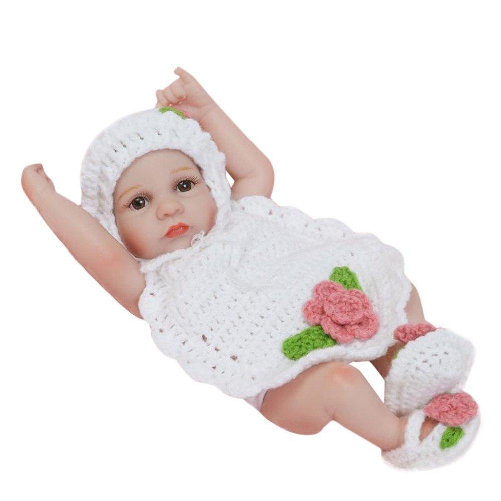 Sunny&Love 2018 Lifelike Reborn Baby Doll 26cm Newborn Doll Kids Girl Playmate Birthday Gift (Multicolor)