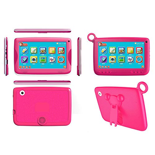 """Aobiny Children's Tablet,Newest 7""""INCH Kids Android 4.4 Tablet PC Camera Quad CORE HD WiFi, for Children (Hot Pink) by Aobiny (Image #4)"""