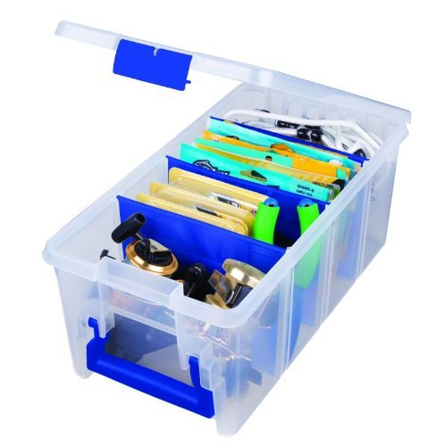Flambeau Tackle Super 1/2 Satchel Tackle Boxes (Clear, 15x8x6.25-Inch) by Flambeau Tackle