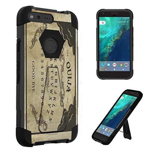 Google Pixel XL Case, DuroCase Transforma Kickstand Bumper Case for Google Pixel XL (Released in 2016) - (Ouija Board)