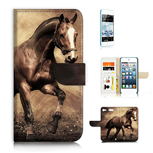 ( For iPod Touch 6 iTouch 6 ) Flip Wallet Case Cover and Screen Protector Bundle A8363 (Itouch Flip Case)