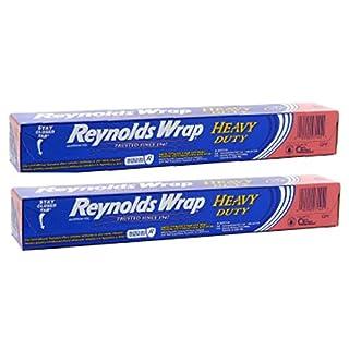 Reynolds Wrap Heavy Duty Aluminum Foil, 50 Square Feet ~ 2 Pack