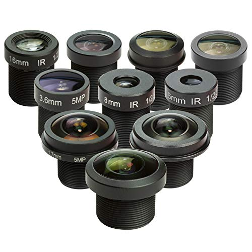 (M12 Lens Set, Arducam Lens for Raspberry Pi Camera (1/4
