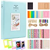 Ablus 2x3 Inch Photo Paper Film Album Set for Fujifilm Instax Mini Camera/HP Sprocket Photo Printer/Polaroid Snap, Z2300, SocialMatic Instant Cameras & Zip Instant Printer (128 Pockets, Ice Blue)