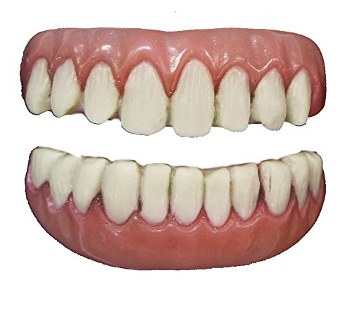 Tinsley Transfers Long Tooth False Teeth FX (2 Piece), White/Pink]()