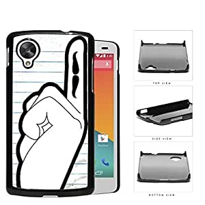 Students Hand Raised With Mustache On Finger Hard Plastic Snap On Cell Phone Case LG Nexus 5