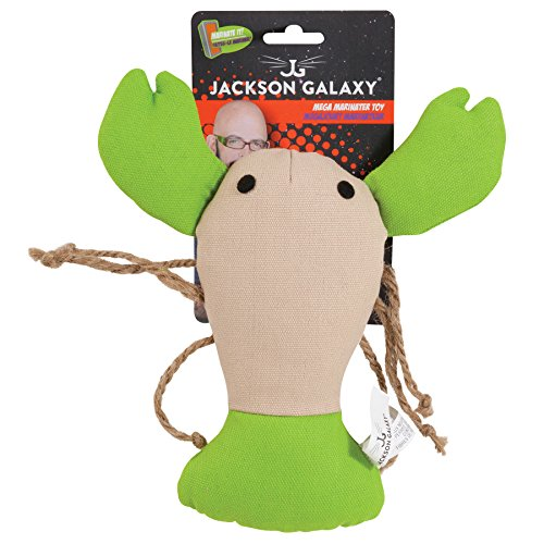 Petmate Jackson Galaxy Marinater Cat Toy Lobster, Large - Lobster Catnip Toy