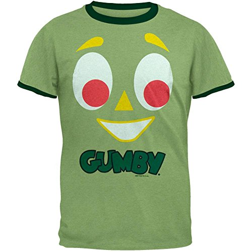 Gumby Face - Gumby - Face Ringer T-Shirt - X-Large