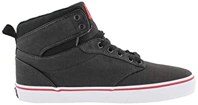 aa1419998e Image Unavailable. Image not available for. Color  Vans Atwood Hi Youth  Size 11 Y Rock Textile Black Red Skateboarding High Top Shoes