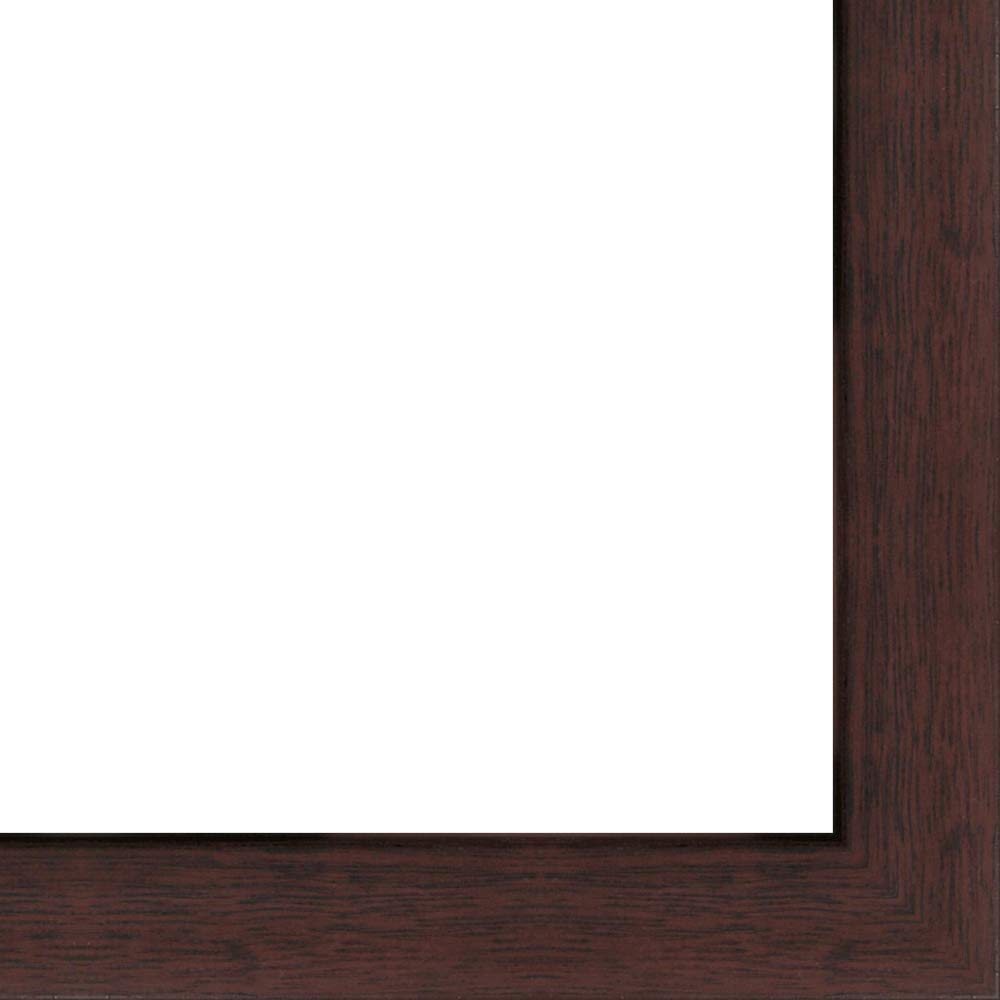 27x39 - 27 x 39 Walnut Flat Solid Wood Frame with UV Framer's Acrylic & Foam Board Backing - Great For a Photo, Poster, Painting, Document, or Mirror