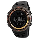 Men's Digital Sports Watch, Military Waterproof Watches Fashion Army Electronic Casual Wristwatch with Luminous Calendar Stopwatch Alarm LED Screen
