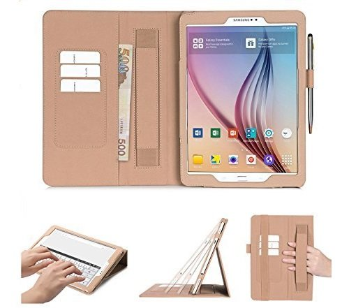 best website 25594 89e52 Fyy Samsung Galaxy Tab S2 9.7 Case, with [Auto Wake/Sleep Feature] Card  Slots, Note Holder, Hand Strap Premium PU Leather Case Stand Cover for  Samsung ...