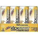Mountain Dew Kickstart Hydrating Boost, Pineapple Orange Mango, 12 Ounce (Pack of 12)
