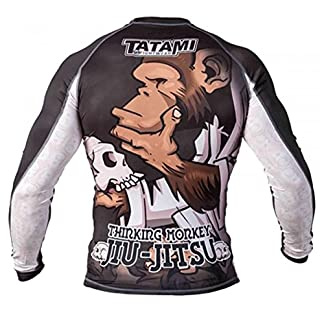 Tatami Fightwear Men's Thinker Monkey Long Sleeve Rash Guard White