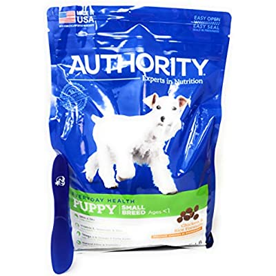 Authority Small Breed Puppy Dry Dog Food (Chicken and Rice) 6lbs and Especiales Cosas Mixing Spatula