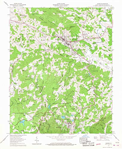 YellowMaps Boone NC topo map, 1:24000 Scale, 7.5 X 7.5 Minute, Historical, 1959, Updated 1968, 27 x 22.1 in - Polypropylene (Map Of Boone And Blowing Rock Nc)
